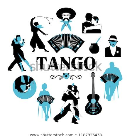 танго черный белый музыку Сток-фото © ratkom