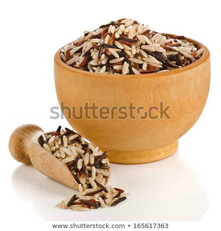 Bowl of wild rice cereal isolated. Healthy food for breakfast. V Stock photo © MaryValery