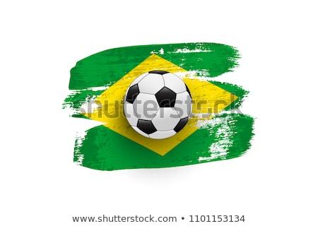 Zdjęcia stock: Brazylia · banner · ikona · strony · piłka · nożna · szczęśliwy