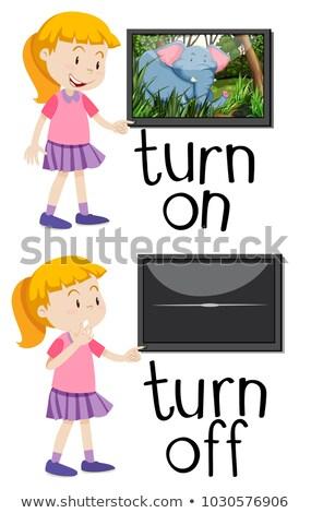 Karşı sözler çevirmek örnek çocuk Stok fotoğraf © bluering
