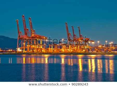 Loading cranes in cape town harbour Stock photo © IS2
