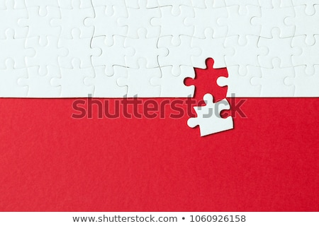 Red background made from jigsaw puzzle Stock photo © kenishirotie