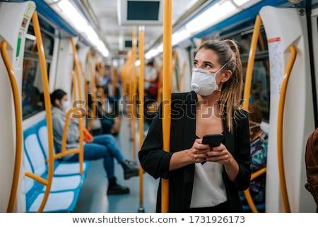 kadın · metro · istasyon · genç · kadın · kış · kat - stok fotoğraf © adrenalina