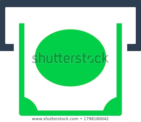 Banknote sliding from atm slot icon Stock photo © angelp