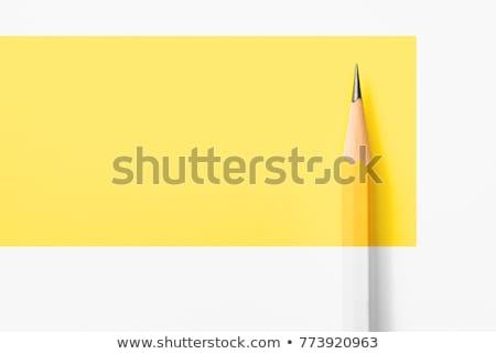 黄色 · 木製 · シャープ · 鉛筆 · 孤立した · 白 - ストックフォト © Macartur888
