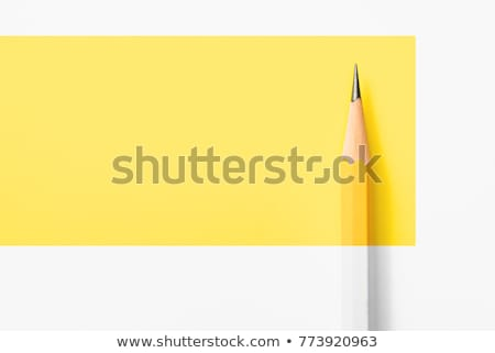 jaune · bois · forte · crayons · isolé · blanche - photo stock © Macartur888