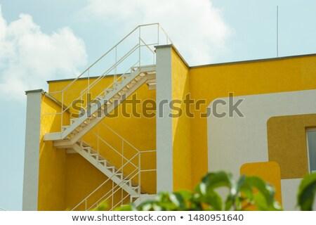 Zikzak modern ev siyah bej gökyüzü Stok fotoğraf © 5xinc