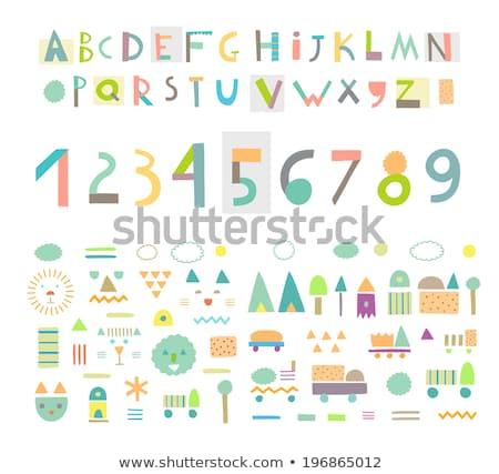 基本 · 幾何学的な · 実例 · 子供 · 教育 - ストックフォト © izakowski