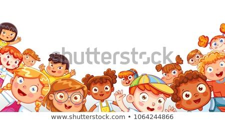 gyerekek · játszik · játszótér · illusztráció · égbolt · ház - stock fotó © pikepicture