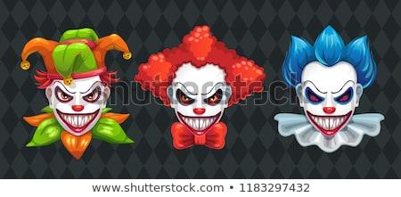 Cartoon zło clown ilustracja patrząc osoby Zdjęcia stock © cthoman