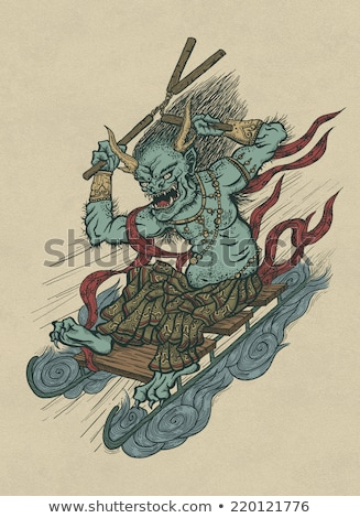 Goblin Poster Illustration Stock photo © cthoman