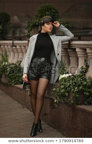 Leggy young brunette Stock photo © acidgrey