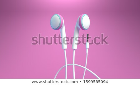Music player and wired earphones Stock photo © magraphics