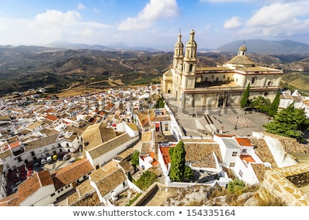 Olvera Castle and Parish of Our Lady of the Incarnation Stock photo © benkrut