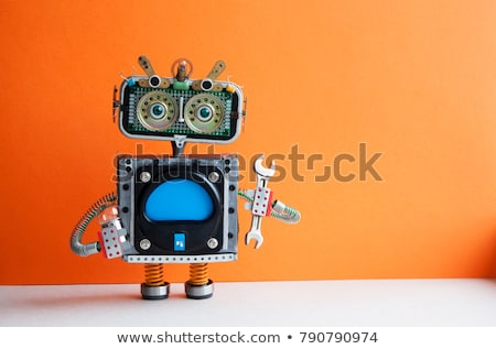 Game template with robots in background Stock photo © colematt