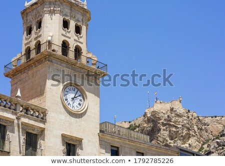 Alicante City Hall and old town Stock photo © benkrut