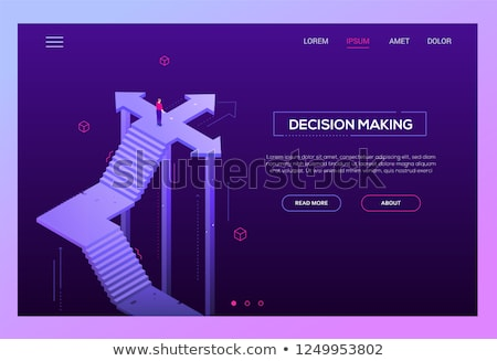 Way to success - modern isometric vector website header Stock photo © Decorwithme