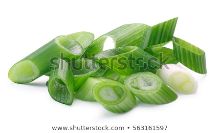 Chopped spring onion, paths Stock photo © maxsol7