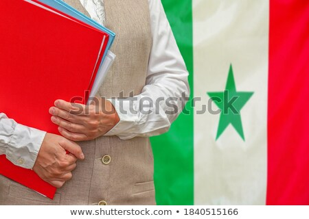 Folder with flag of senegal Stock photo © MikhailMishchenko