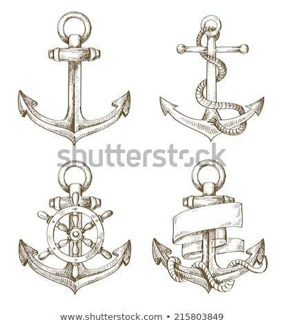 якорь · стиль · морем · медицинской · океана · лодка - Сток-фото © vector1st