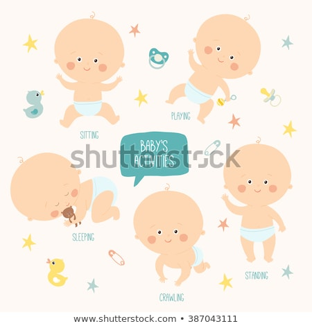 Bebé edad 10 meses aislado blanco Foto stock © Lopolo