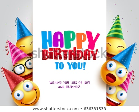 Happy Birthday Party Cap or Celebration Hat Poster Stock photo © robuart