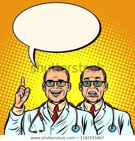 2 医師 楽しい 懐疑的な 薬 健康 ストックフォト © rogistok