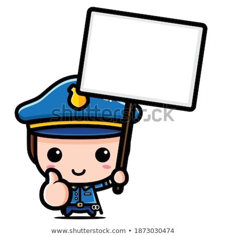 Gryzmolić dobre policjant charakter ilustracja sztuki Zdjęcia stock © colematt