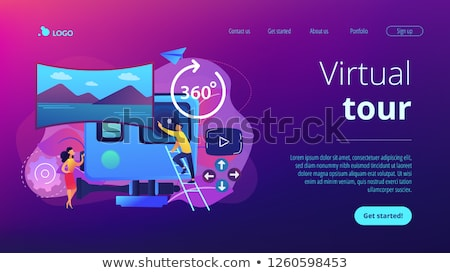 Virtual tour concept landing page. Stock photo © RAStudio