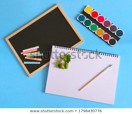 Ev öğrenme okula geri renk tebeşir siyah Stok fotoğraf © galitskaya