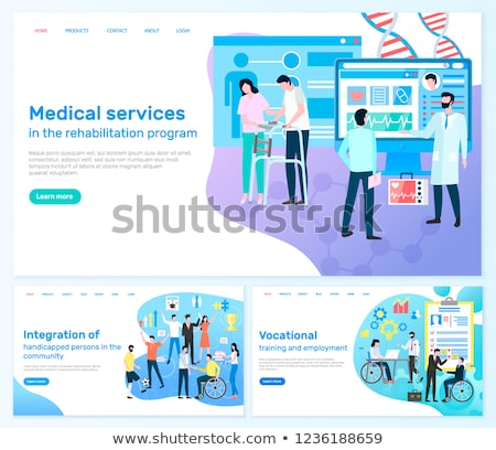 Médicaux services réhabilitation programme handicapées intégration Photo stock © robuart