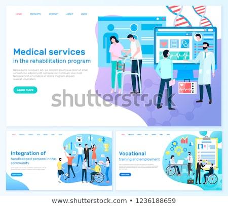 medical services rehabilitation program disabled stock photo © robuart