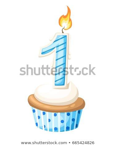 украшения один год рождения шаров торт Сток-фото © Stasia04