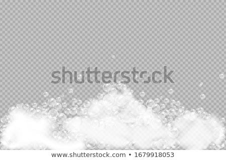 現実的な · シャボン玉 · 虹 · 反射 · 透明な · シャボン玉 - ストックフォト © marysan