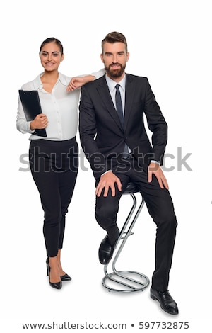 Men and woman business partners posing for a photo Stock photo © frimufilms