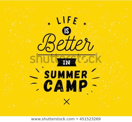Kleur vintage zomerkamp banner leven beter Stockfoto © netkov1