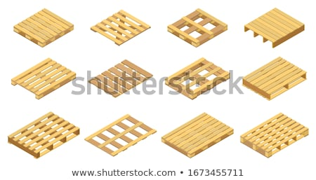Set of pallet crates Stock photo © bluering