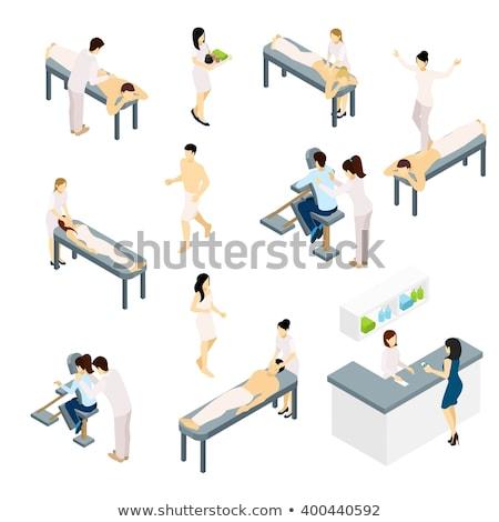 Spa Salon Reception and Massage Procedure Vector Stock photo © robuart