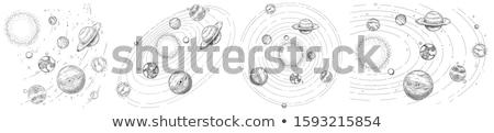 Stock fotó: Naprendszer · modell · színes · bolygók · pálya · csillagok