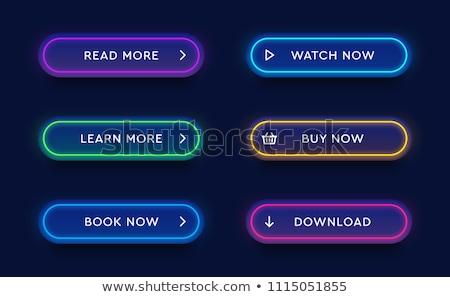ベクトル · カラフル · 長い · ウェブ · ボタン · デザイン - ストックフォト © sarts
