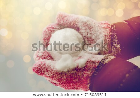 女性 雪玉 屋外 冬 ストックフォト © dolgachov