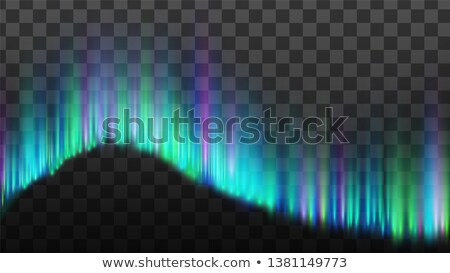 Realistic Composition Of Northern Aurora Vector Stockfoto © pikepicture