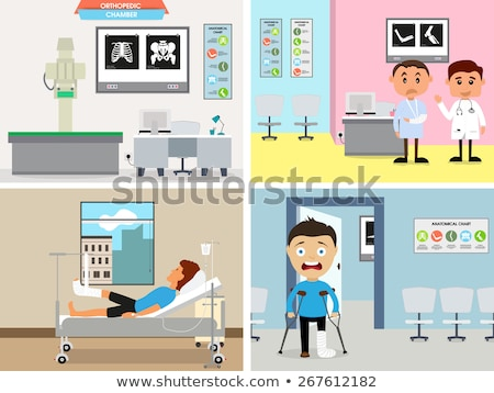 Stock photo: funny doctor checking a patient
