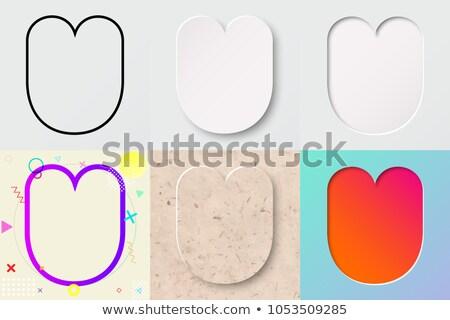 Multi color layers font Letter U 3D Stock photo © djmilic