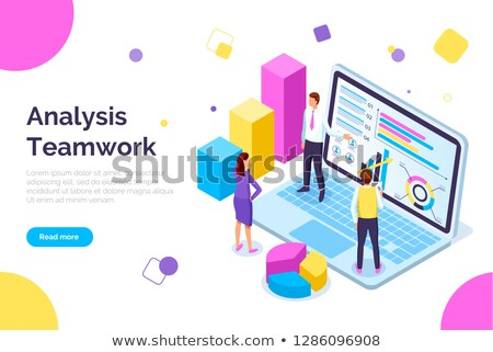 Visual Representation and People Working in Team Stock photo © robuart