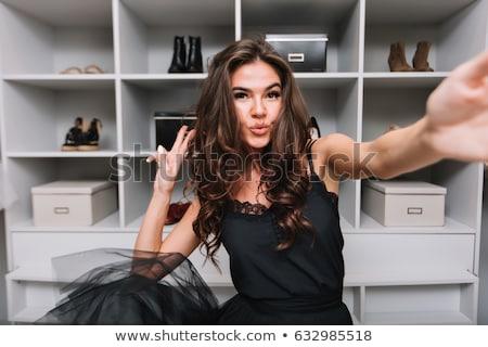 Retrato pensativo jovem cabelos cacheados isolado Foto stock © deandrobot