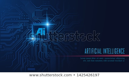 AI Microchip Processor Lights Header Stock photo © limbi007