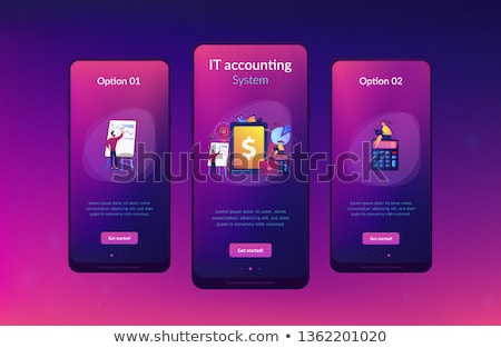 Enterprise accounting app interface template. Stock photo © RAStudio