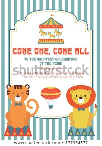 Sevimli sirk afiş eps 10 Stok fotoğraf © netkov1