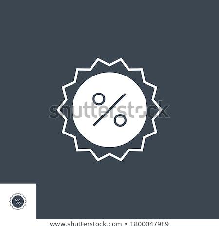 Percent Badge related vector glyph icon. Stock photo © smoki